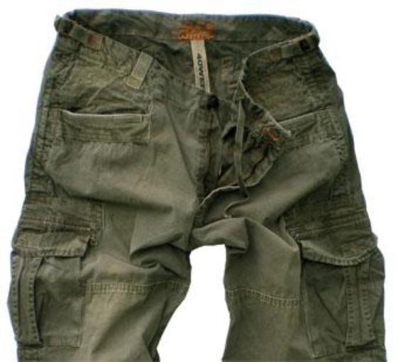 Брюки с накладными карманами мужские